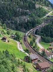 SBB Re 6'6 11684 & SBB Re 4'4 2 11329 Mittlere Meienruess-brucke, Wassen 09 July 2015 (4) (BaggieWeave) Tags: switzerland swiss swisstrains swissrailways gotthardrailway gotthard gotthardbahn wassen uri re44 sbb cff ffs