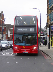 GAL E271 - SN62DJO - LEE GREEN TIGERS HEAD - SAT 5TH JAN 2019 (Bexleybus) Tags: goahead go ahead london central lee green tigers head shopping centre burnt ash road adl dennis enviro 400 e271 sn62djo tfl route 178