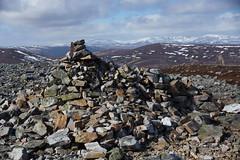 Summit of Creag nan Gabhar (steve_whitmarsh) Tags: aberdeenshire scotland scottishhighlands highlands mountain hills snow summit cairngorms topic