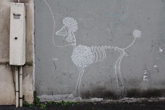Matt Thieu_1514 rue Sibuet Paris 12 (meuh1246) Tags: streetart paris animaux mattthieu ruesibuet paris12 chien caniche squelette