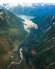 Cockpit Views (andrew.clark471) Tags: red rainbow mountain mountains helicopter landscape flying canada british columbia bc golden hour stave lake river trees valley green blue purple sony alpha a7 mark 2 ii 28mm f2 perfect clouds cloud fog