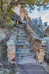 Stone Staircase Built by Civil Works Administration in El Morro National Monument (Lee Rentz) Tags: antiquitiesact atsinnapueblo cwa cibolacounty civilworksadministration coloradoplateau elmorro elmorronationalmonument headlandtrail inscriptionrock mesatoptrail newmexico staircase theodoreroosevelt trailoftheancientsbyway america americanwest archaeological archaeology cultural culture desert dry fdr greatdepression historic history landscape masonry nature northamerica oasis path pathway pool promontory rock sandstone source southwest stairs stairway steps stone trail usa vertical water wateringhole west