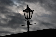 PATTERNS (Malvern Firebrand) Tags: digitised led gas lamp great malvern railway station silhouetted brooding sky 18319 worcestershire malvernhills hills arty intricate pattern lighting lights clouds outdoors scenic town 2019 spring march light