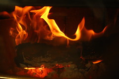 Flickr Friday #Flames (qorp38) Tags: fire flames log stove