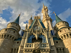 Castle Sunset Light (ahockley) Tags: castle cinderella cinderellacastle disneyworld florida goldenhour magickingdom shotoniphone shotoniphone7 sunsetlight wdw