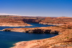 Dam and Bridge (BFS Man) Tags: arizona d750 lakepowell nikon bridge cloud dam rock sky water