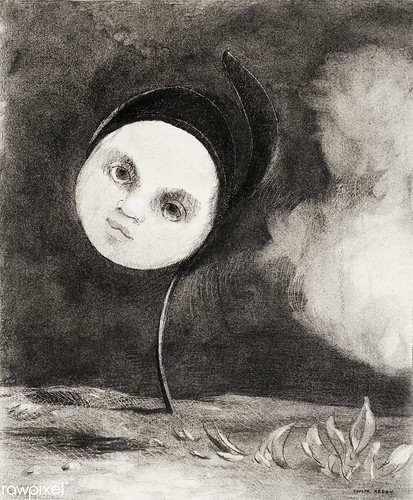 Strange Flower by Odilon Redon