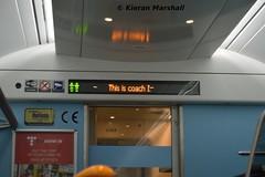 22263 interior display, 30/1/19 (hurricanemk1c) Tags: railways railway train trains irish rail irishrail iarnród éireann iarnródéireann portlaoise 2019 22000 rotem icr rok 3pce 0540portlaoiseheuston 22063 22263