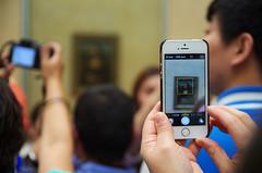 Mona Lisa Cell Phone (sarowen) Tags: thelouvre paris france parisfrance museum muséedulouvre louvremuseum monalisa monalisaroom tourists phone cell cellphone iphone cellphonephotography