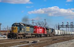 Rerouted (SantaFe669) Tags: csx sd402 canadianpacific gp38ac trains railfanning railroads es40dc diesellocomotives locomotives