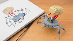 Lego Brain Monster (hachiroku24) Tags: lego scifi moc brain monster retro instructions alien robot