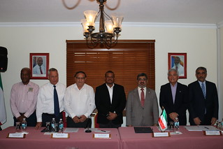 Kuwait Fund. GOB Signing for Caracol Road