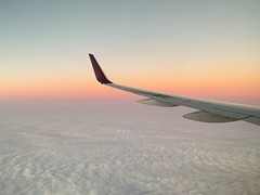 20,000 leagues above the sea. (blurb) Tags: iphonexsmax travel 2018 winter dusk jet airplane flight sky