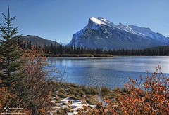 The Iconic Mount Rundle seen from Vermilion Lakes in Banff National Park Canada (PhotosToArtByMike) Tags: vermilionlakes mountrundle banffnationalpark canadianrockies rockymountains banff albertacanada mountain mountains alberta
