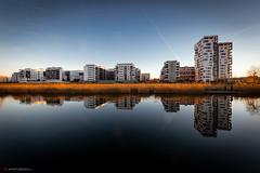 Mirrored City (Aperturized) Tags: böblingen badenwürttemberg germany de architecture skyline