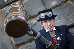 Battling Steampunk at the Whitby Steampunk Weekend V - Ohh La La (Gordon.A) Tags: yorkshire whitby steampunk whitbysteampunkweekend v wsw february 2019 convivial festival event eventphotography culture subculture lifestyle creative costume hat goggles people man model pose posed posing wall outdoor outdoors outside day daylight naturallight colour colours color amateur street portrait portraitphotography digital canon eos 750d sigma sigma50100mmf18dc