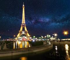Beauty of Paris (Pierce Rasmussen) Tags: stars tower eiffel architecture astro astrophotography astrophotographers milkyway space france photography paris