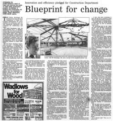 Adelaide Aquatic Centre (RS 1990) Tags: newspaper microfilm advertiser adelaide australia southaustralia retro nostalgia aquaticcentre swimmingcentre construction building may 17th 1985 article news