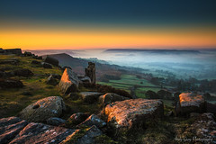 Blue Hour (ANG Imagery) Tags: morninglight rocky landscape dawn misty glowing peakdistrict curbaredge sunrise