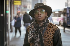 New York Groove (Leanne Boulton) Tags: urban street candid portrait portraiture streetphotography candidstreetphotography candidportrait streetportrait eyecontact candideyecontact streetlife people man male face eyes expression mood feeling emotion style stylish fashion retro vintage 70s 1970s seventies hat fur pattern tone texture detail depthoffield bokeh naturallight outdoor light shade city scene human life living humanity society culture lifestyle canon canon5dmkiii 70mm ef2470mmf28liiusm color colour glasgow scotland uk leanneboulton