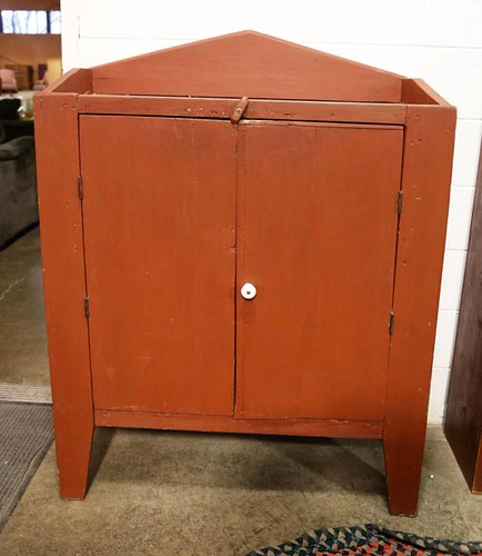 Red Painted Country Cupboard ($78.40)