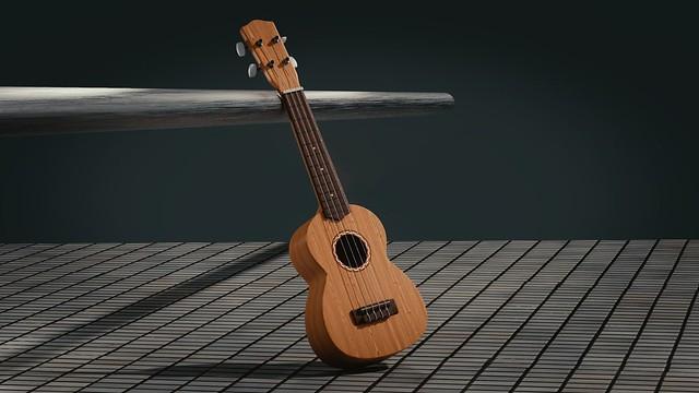 Обои гитара, 3d, пространство, музыкальный инструмент картинки на рабочий стол, фото скачать бесплатно
