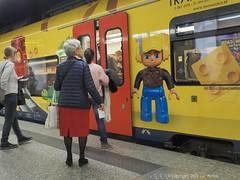 Lego Train (Spotmatix) Tags: 1232mm belgium brussels camera lens omdem10ii olympus places sncb street streetphotography trains trainstation transports zoomstd