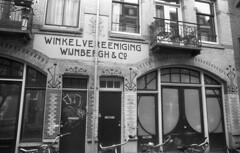 Winkelvereeniging Wijnbergh & Co. (Arne Kuilman) Tags: amsterdam nikon fm3a vivitar 28mm luckyshd iso100 id11 7minutes homedeveloped stock analogue film wijnbergh artdeco winkelvereenigingwijnberghco