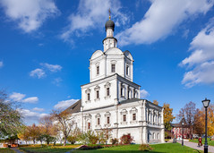 Andronikov Monastery (Moscow, Russia) (KonstEv) Tags: monastery church cathedral moscow russia orthodox sky architecture building rublev museum tiltshift