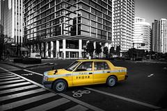 Taxi, Yokohama, Japan (KSAG Photography) Tags: taxi city car vehicle coloursplash yellow yokohama asia eastasia japan urban nikon march 2019 spring street