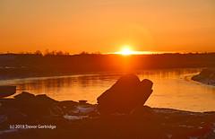 Sunrise on the rocks (Trevdog67) Tags: sunrise horizon river petitcodiac ice chunks riverice nature naturephotography spring landscape landscopephotography nikon nikkor nikond7500 nikkor18300mm moncton newbrunswick canada