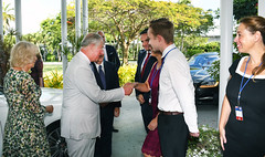 Meeting the Forbes (Cayman Islands Government Information Services) Tags: cayman royal visit charles prince wales camilla duchess cornwall owen roberts international airport united kingdom great britain
