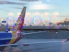 Leaving Las Vegas (Ian E. Abbott) Tags: mccarraninternationalairport lasvegasairport klas las lasvegas southwestairlines swa 737 slotmachines gambling reflection