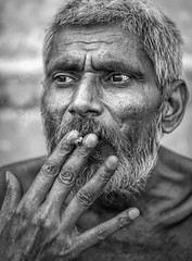 focus (andy_8357) Tags: smoker cigarette intense bw monochrome brahmin sanyasin varanasi india man hindu hinduism contemplative sony a6000 ilce6000 6000 ilcenex sigma 60mm f28 dn art mirrorless emount ganges mother ganga stimulating conversationalist philosophy philosophical kind engaging moustache salt pepper gentleman renunciate street outdoors photography portrait portraiture alpha people easygoing