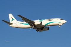 IMG_6051@L6 (Logan-26) Tags: boeing 7374q8 tctla msn 25107 tailwind airlines riga international rix evra latvia aleksandrs čubikins sky blue fly flying