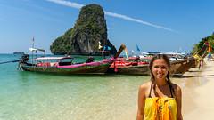 Railay (Krabi) (weltenbummlerunterwegs) Tags: aonang backpacker krabi railay strand weltenbummler weltreise