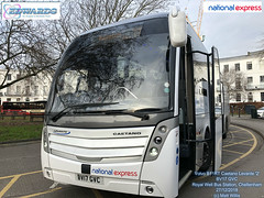 NATIONAL EXPRESS EDWARDS COACHES VOLVO  B11RT CAETANO LEVANTE 2  BV17 GVC ROYAL WELL BUS STATION CHELTENHAM 27122018 (MATT WILLIS VIDEO PRODUCTIONS) Tags: national express edwards coaches volvo b11rt caetano levante 2 bv17 gvc royal well bus station cheltenham 27122018