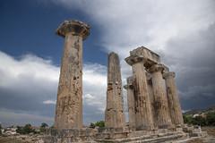 Temple of Apollo (Mr. History) Tags: corinth greece temple greek ruins ancient templeofapollo