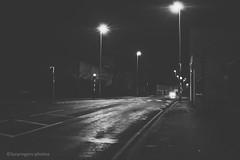 Night Life (lucyrogersphotography) Tags: nightnightliveroadsblackandwhitemonochromestreetstreetphotography blackandwhite street streetphotography knottingley uk yorkshire roads junction intersection doubleyellows