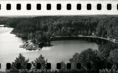 Bronica SQ-A-054-004 (michal kusz) Tags: bronicasqa zenzanon40mmilfordhp5ilfosol3114epsonv600 old mine lake film frame forest water bronica blackandwhite bw zenzanon ilford hp5 epson 35mm