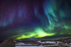 Northern lights in Bodø (mintoid) Tags: aurora northern light lights norway bodø landscape astro astrophotography sky night nightshot nightsky snow winter mountain mountains nature