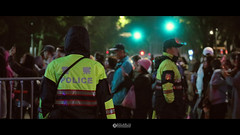 交警 (solarliu) Tags: lantern festival light lighting installation art square people taiwan taipei taiwanese night silhouette 燈會 元宵 裝置藝術 燈光 台北 街道 人潮 street