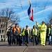 Gele hesjes mars door het Haagse centrum