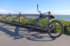 """cruzer"" (peaceblaster9) Tags: ocean sea coast shore cliff sky cruser bike bicycle shadow sunlight santacruz california クルーザー 自転車 海 空 海岸 水平線 horizon サンタクルーズ カリフォルニア winter 冬"