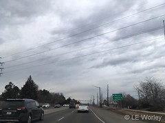 March 8, 2019 - Cloudy skies over Thornton. (LE Worley)