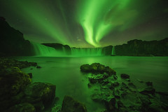 horiauroa-3-1400px (KasparsDz) Tags: iceland landscape aurora northern lights godafoss waterfall night green nature travel stars reflection waterscape good spots amazing thisisnature love neature