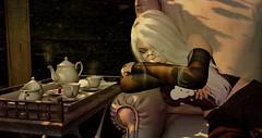 Easier (Felice Nightfire) Tags: portrait tea shadows