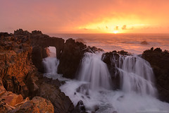 Hole in One (michael ryan photography) Tags: sonoma sonomacounty sonomacoast arch doorway cascade falls ocean pacificocean california northerncalifornia sunrise light hightide surf high michaelryanphotography