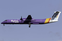 flybe Dash 8 Q400 G-JEDP at London Heathrow LHR/EGLL (dan89876) Tags: flybe bombardier dash 8 q400 dh8d gjedp london heathrow international airport 27l lhr egll