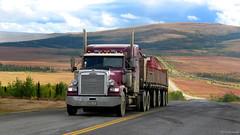 Alaska: Dalton Highway trucker (Henk Binnendijk) Tags: alaska usa vs daltonhighway truck trucker haulroad jamesdalton pipeline gravel vrachtwagen